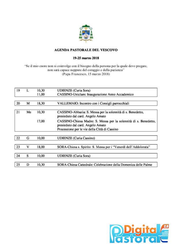 Agenda 19-25-marzo-2018