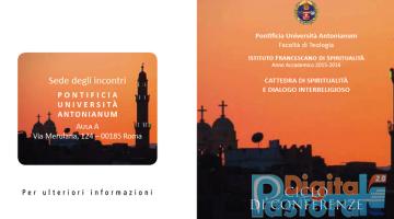 Pastorale Digitale Pontificia Università Antonianum dialogo interreligioso