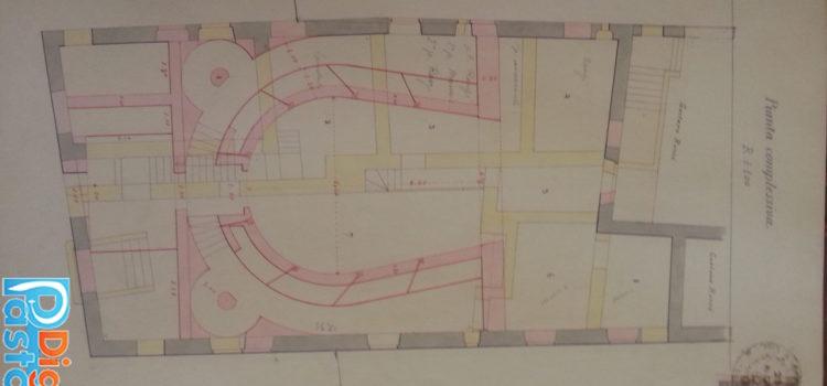 disegno del progetto del teatro comunale