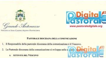 Pastorale Digitale Organigramma della Pastorale della Comunicazione diocesi di Sora Cassino Aquino Pontecorvo