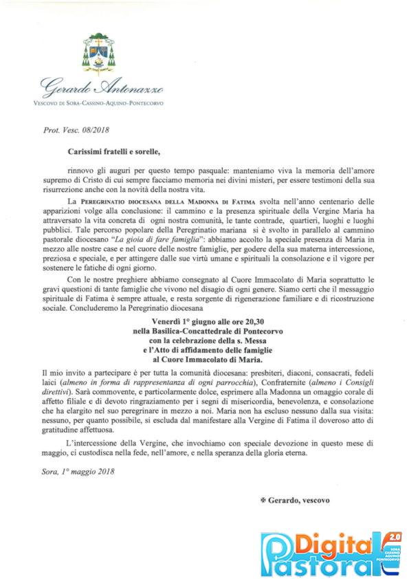 Fatima- Lettera conclusione Peregrinatio diocesana-1