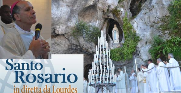 Santo Rosario in diretta dalla Grotta di Lourdes oggi alle