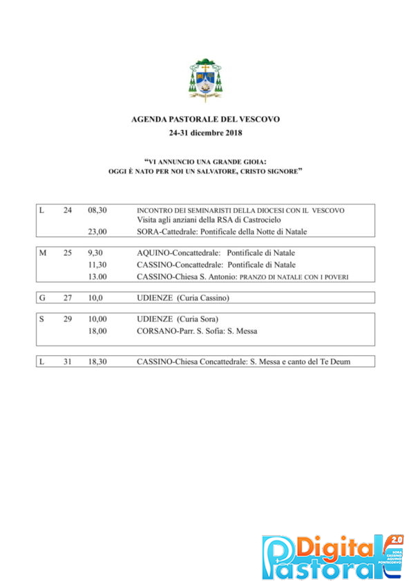 Agenda 24-31 dicembre 2018-1