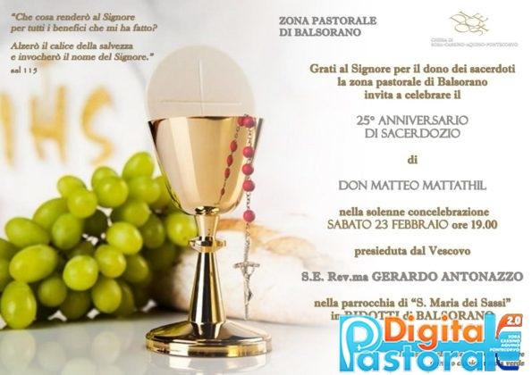 Pastorale-Digitale-25 anni sacerdozio-Don Matteo-Ridotti