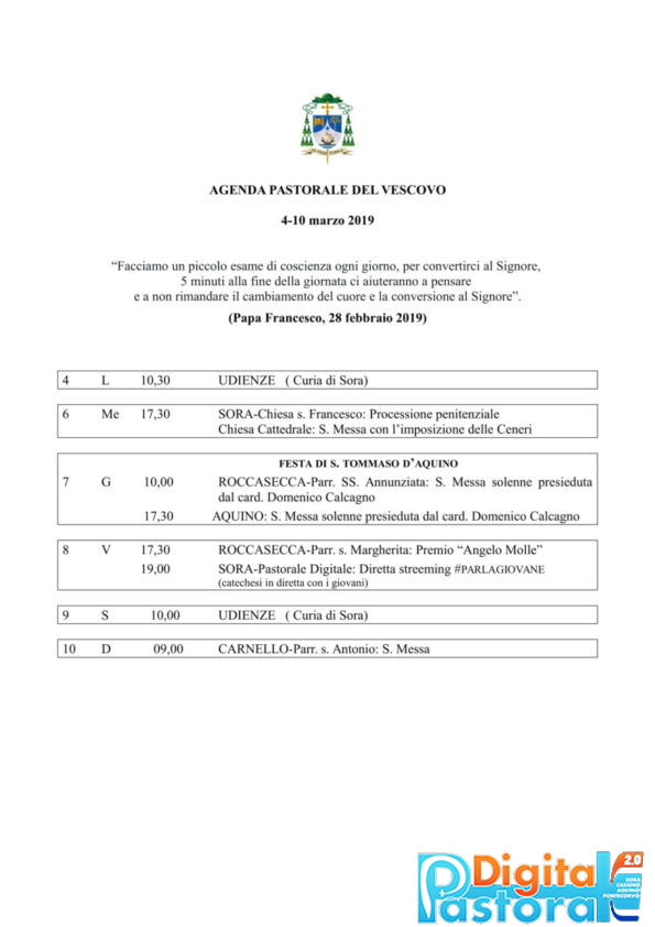 agenda 4-10 marzo 2019-1