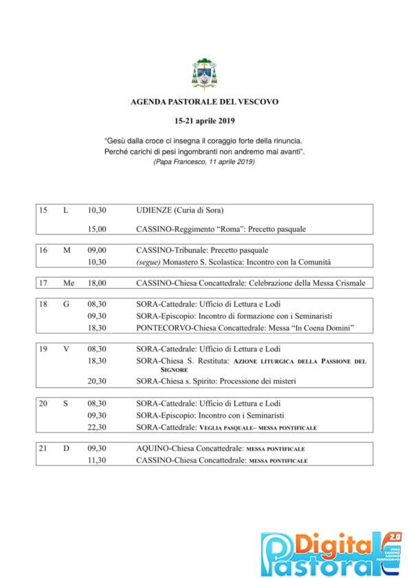 Agenda 15-21 aprile 2019-1