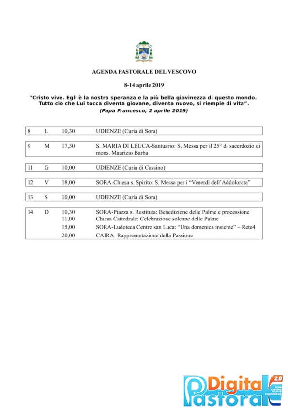 Agenda 8-14 aprile 2019-1