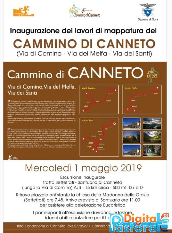 Locandina riapertura Santuario di Canneto 1 maggio 2019