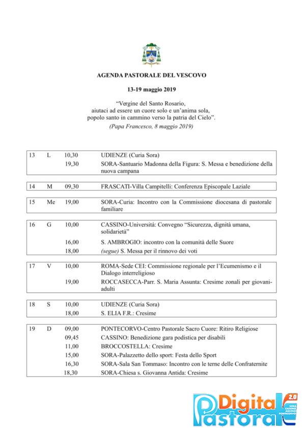 Agenda 13-19 maggio 2019-1